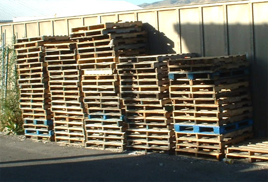 shipping pallet overseas